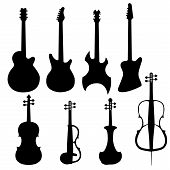 Set Of String Instruments poster