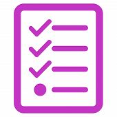 image of violets  - Checklist icon from Business Bicolor Set - JPG