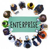 pic of enterprise  - Enterprise Company Corporation Business Project Concept - JPG