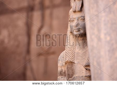 Ancient Egyptian goddess Isis and