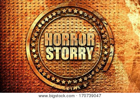 horror story 3D rendering text