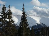 stock photo of mary jane  - At the top of Mary Jane at Winter Park Colorado - JPG