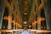 picture of notre dame  - Notre Dame de Paris carhedral interior nav - JPG