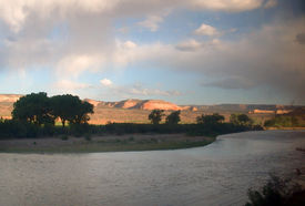 pic of amtrak  - colorado river in ruby canyon from the window of amtrak - JPG