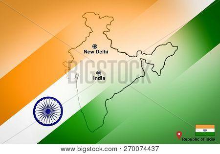 India Map And New Delhi