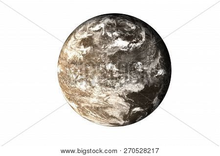 Dark Rock Dead Planet With