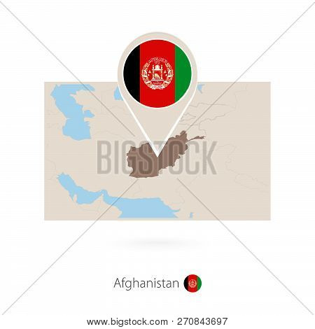 Rectangular Map Of Afghanistan With
