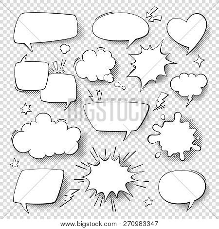 Comic Speech Bubbles Cartoon Comics