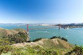 landscape concept - view of golden gate bridge over san francisco bay poster
