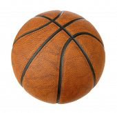 Basketball ball isolated on white poster