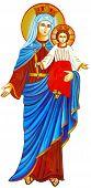 Mary Nazareth  Orthodox Church Baby Jesus Theotokos Illustration poster