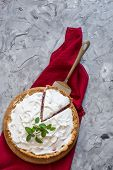 Homemade Tart With Berries And Icing, Cream, Whipped Cream. Open Pie With Cream. Summer Baking, Summ poster