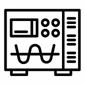 Electric Modulator Device Icon. Outline Electric Modulator Device Vector Icon For Web Design Isolate poster