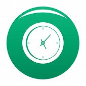 Clock Minimal Icon. Simple Illustration Of Clock Minimal Vector Icon For Any Design Green poster