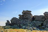Top Of The Mountain Of The Northern Urals Otorten. The Sacred Mountain For The Northern Peoples Of T poster