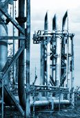 stock photo of biogas  - Pipes and valves - JPG