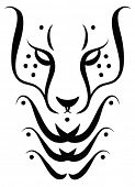 foto of lions-head  - Cheetah tattoo drawing - JPG