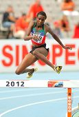 BARCELONA - JULY, 10: Daisy Jepkemei of Kenia during 3000 Metres Steeplechase event of the 20th Worl