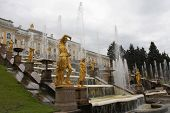 stock photo of samson  - Grand Cascade At Peterhof - JPG