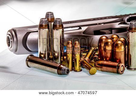 Постер, плакат: Оружие и боеприпасы для потехи или самообороны Вторая поправка прав , холст на подрамнике
