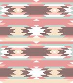 stock photo of primite  - Seamless geometric pattern in aztec style - JPG