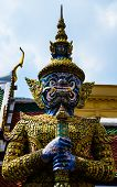 picture of asura  - Orge in Wat Phra Kaew - JPG