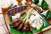 stock photo of hari raya  - Beef satay - JPG