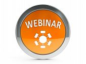 picture of ebusiness  - Orange webinar emblem is online seminar  - JPG