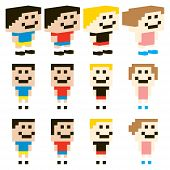 Vector Pixel Art Kids Character