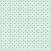 foto of mint-green  - Seamless vector pattern with dark green polka dots on a retro vintage mint green background - JPG