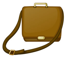 picture of sling bag  - Illustration of a brown bag on a white background - JPG