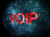SEO web design concept: VOIP on digital background