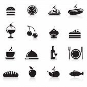 stock photo of plate fish food  - icons food - JPG