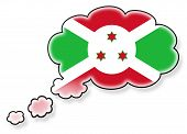 foto of burundi  - Flag in the cloud isolated on white background flag of Burundi - JPG