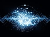 pic of quantum  - Abstract concept of quantum waves illustrated with fractal elements - JPG