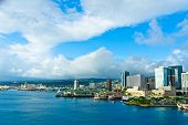 stock photo of waikiki  - Beautiful view of Honolulu Hawaii United States - JPG