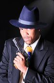 foto of gangster  - smartly dressed African American man - JPG
