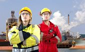 stock photo of raw materials  - Two logistical engineers - JPG