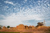 picture of karnataka  - Old ancient ruins of hampi in karnataka india - JPG