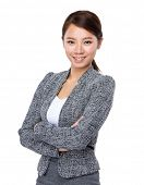 stock photo of polite girl  - Business woman - JPG