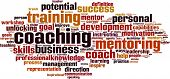 stock photo of maxim  - Coaching Word Cloud Concept - JPG