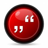foto of inverted  - Quotation marks icon - JPG