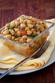 Spicy Moroccan Chickpeas Salad - Vegan poster
