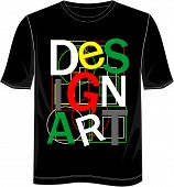 image of t-shirt red  - t shirt vector typography DESIGN ART with color white black red green yellow and gray - JPG