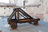 image of cannon-ball  - ROME ITALY  - JPG