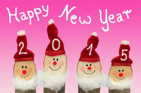 stock photo of gnome  - Happy New Year 2015  - JPG