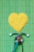 picture of millet  - Dieting healthy living concept - JPG