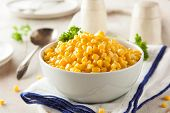 picture of steam  - Organic Yellow Steamed Corn in a Bowl - JPG