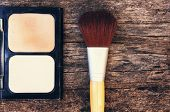 image of face-powder  - cosmetics such as lipstick or powder applied to the face used to enhance or alter the appearance - JPG