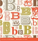 picture of letter b  - Seamless vintage pattern of the letter B in retro colors - JPG